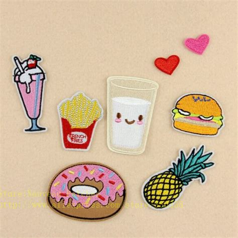 Patch Popcorn Patches Iron On Patch new arrival 10 pcs popcorn drinks hamburger embroidered iron on patches dk fashion