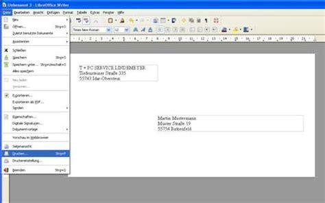 Brief C5 Schweiz Briefumschlag Bedrucken Mit Libreoffice Writer 2 5