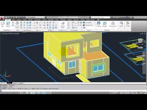 tutorial of autocad 3d tutorial autocad 3d 2012 espa 241 ol modelar una casa parte 7