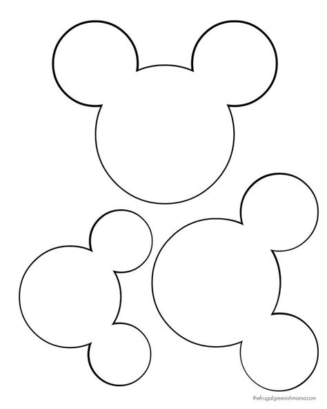 mickey mouse silhouette template printable mickey mouse ears template search