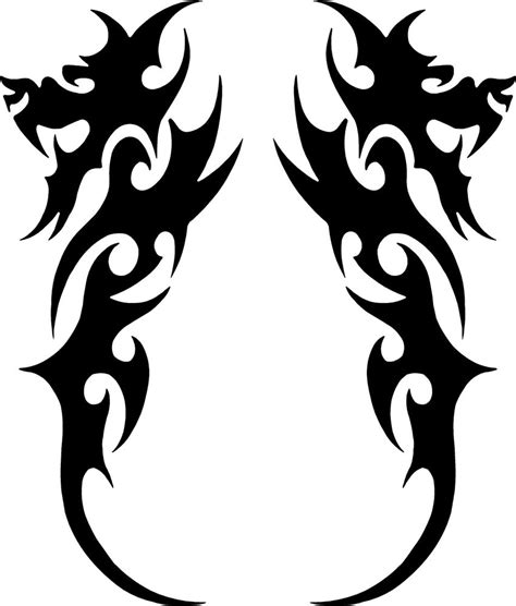 pair of tribal dragon decals 3 75 quot x1 5 quot choose color