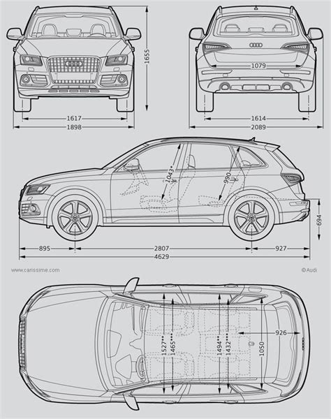 Size Of Three Car Garage audi q5 dimensions wallpaper http wallpaperzoo com