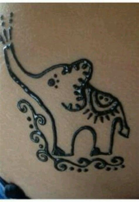 henna tattoo elephant designs simple elephant design would look great on a wrist or