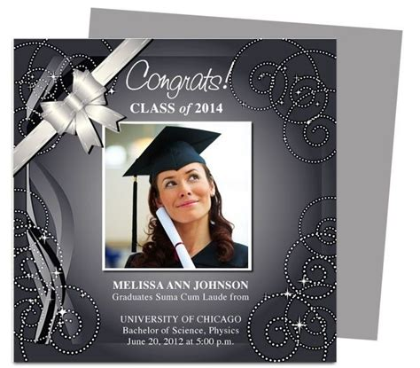 College Graduation Announcements Templates by Graduation Announcement Template Beepmunk