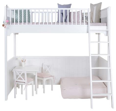 High Sleeper Loft Bed by Children S Luxury Loft Bed In White By Oliver Furniture