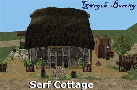 Mod The Sims Gwrych Medieval Mod The Sims Gwrych Barony Serf Cottage
