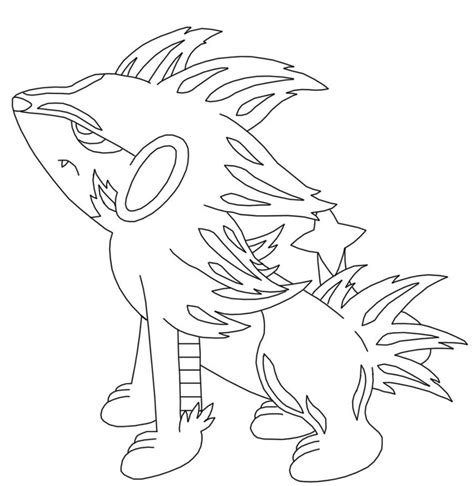 pokemon coloring pages luxray pokemon luxray coloring pages sketch coloring page