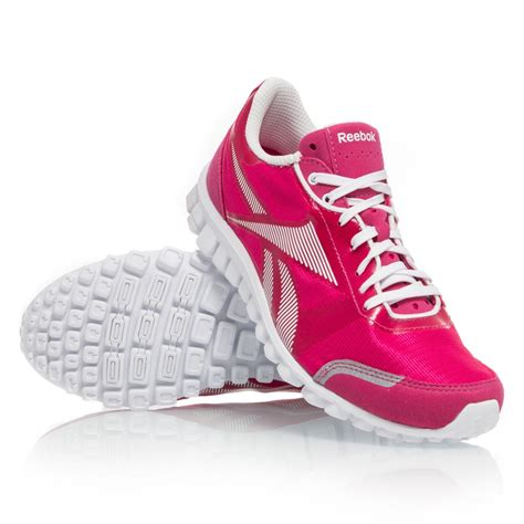 womens reebok sneakers reebok realflex optimal womens running shoes pink