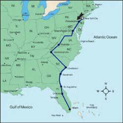 Florida To New York Map by Similiar Map Of Route From Florida To New York Keywords