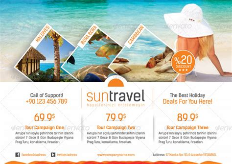 20 travel brochure and print templates
