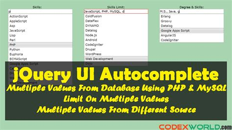 tutorial jquery php autocomplete autocomplete textbox with multiple values using jquery