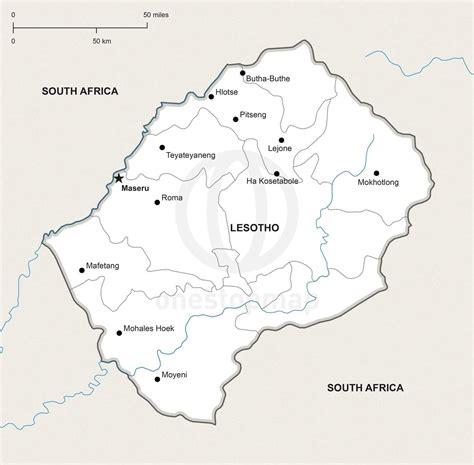 lesotho map lesotho karte provinzen