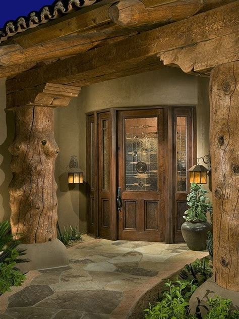 Log Home Front Doors Exterior Log Home Door House Plans