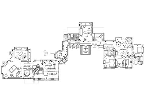 famous floor plans telluride colorado ski villa architectural drawing