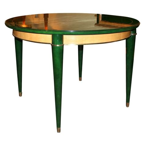 Green Dining Table And Chairs Green Dining Table By Batistin Spade At 1stdibs