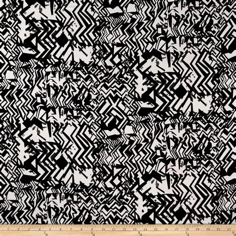 black and white aztec pattern fabric rayon challis aztec print black white discount designer