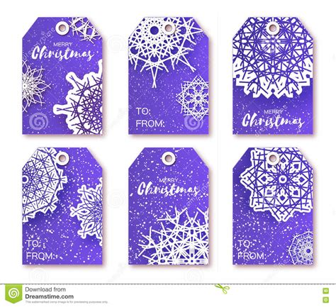 printable christmas gift tags blue blue christmas labels with origami white snowflake stock