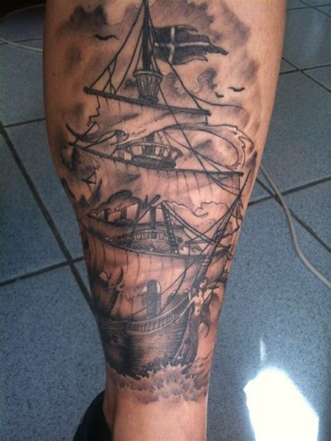 ghost ship tattoo my tattoos pinterest ghosts ghost