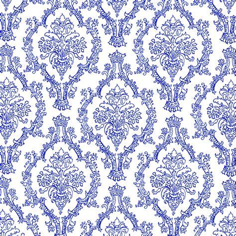 Blue Pattern Royal   mel stz 19 colour pencil damask patterns