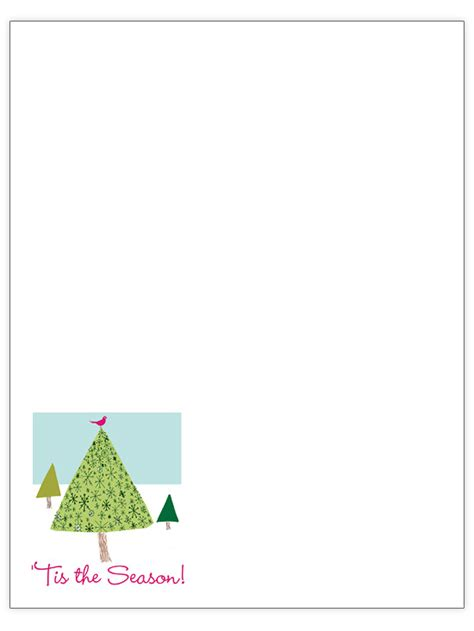Free Christmas Letter Templates Tree Letter Template