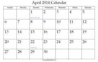 Calendar April 2014 April 2014 Calendar With Holidays Pictures To Pin On