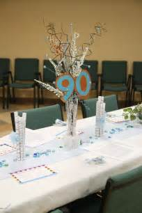 centerpieces for s 90th birthday s 90th birthday