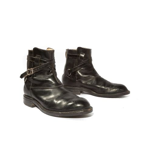 mens motorcycle ankle badass boots vintage men s ankle boots wrap around strap