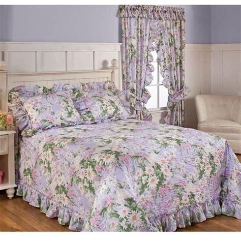 twin meadow lavender floral bedspread