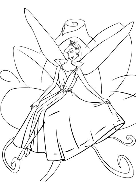 kids n fun com 21 coloring pages of barbie fairytopia