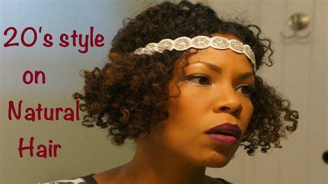 african american hair in the twenties natural style on short hair the 20 s flapper girl youtube