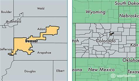 Search In Colorado Map Of Denver County Colorado My