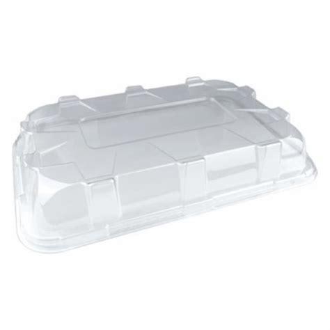 Sabert Small Lids For Black Plastic Rectangle Serving Plastic Buffet Platters