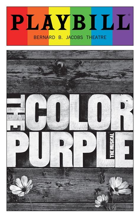 the color purple book price the color purple june 2016 playbill with rainbow pride