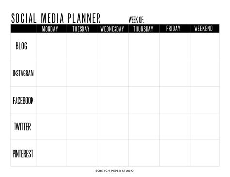 social media planner freebie friday social media planner