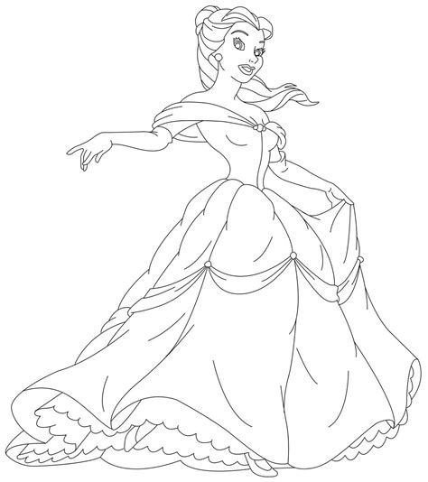 coloring pages of disney princess belle free printable disney princess coloring pages for kids