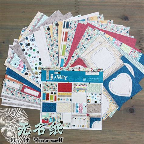 Printed Craft Paper - 6 quot acid free sewing pattern decorative scrapbooking paper