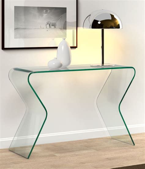 contemporary glass sofa table contemporary glass console table furniture pinterest