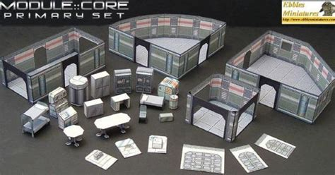 Sci Fi Papercraft - sci fi paper models for rpg wargames and dioramas by