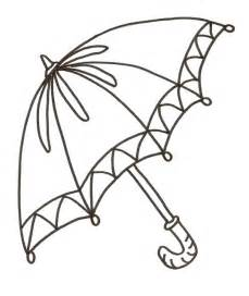 free coloring pages of clip art of umbrella