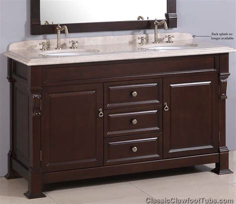 bathroom vanity sink combo 60 quot traditional double sink vanity combo classic