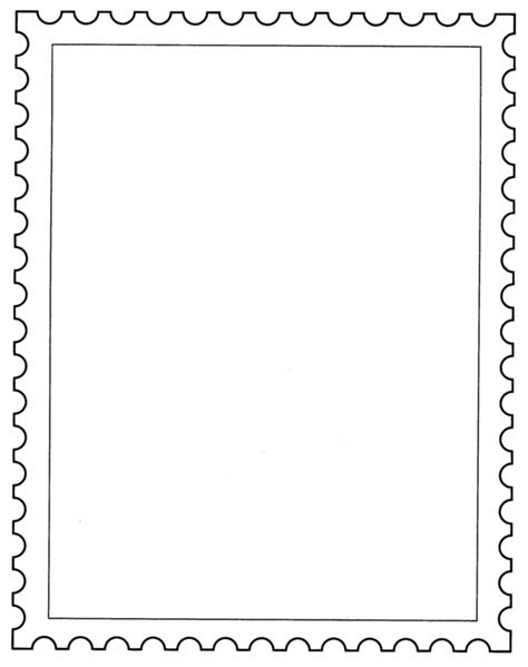 free printable postcard borders postage st border clip art 19
