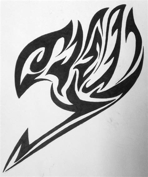 fairy tail symbol tattoo of a tribal guildmark by