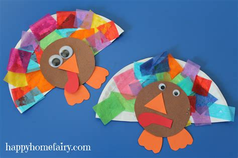 crafts for thanksgiving easy turkey craft happy home
