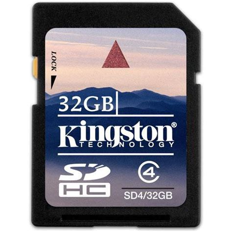Memory Card Kingston 32gb kingston 32gb sdhc memory card class 4 sd4 32gb b h photo