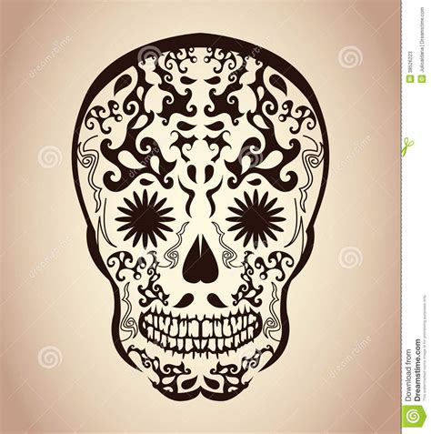 day of the dead skull tattoo day of the dead skull skull stock photos image