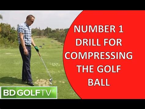 how to swing down on the golf ball number 1 drill for compressing the golf ball youtube