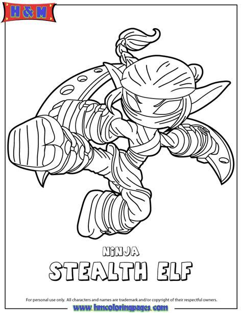 coloring pages of stealth elf skylanders swap force life ninja stealth elf coloring page