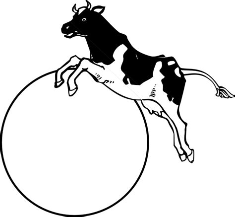 cow jumping coloring page free vector graphic moon cow jumping over animal