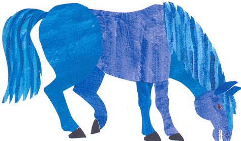 blue horses blue postcard the eric carle museum of picture