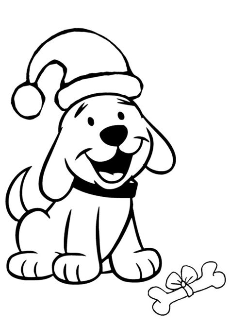 print out coloring pages of dogs christmas dogs coloring pages dog tail christmas 105